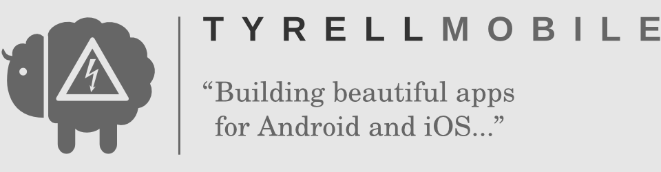 Tyrell Mobile logo and strapline