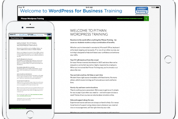 Pitman WordPress Training